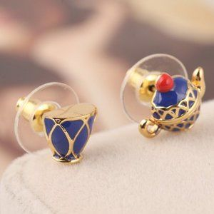 Kate Spade Blue Teacup Teapot Earrings